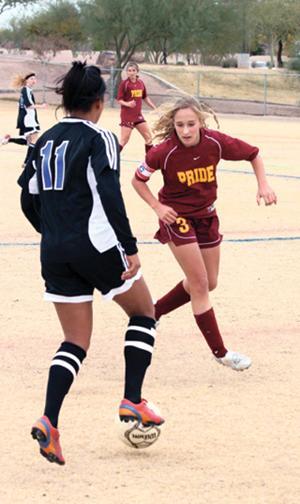 Kierstead in Pride girls soccer driver's seat