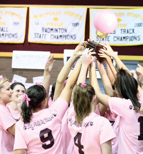 Pride take Dig Pink fundraising trophy; Thunder take match 