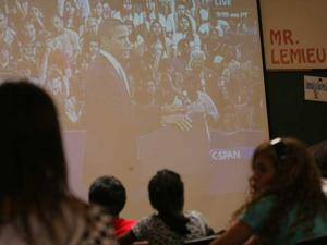 President Obama addresses school children nationwide