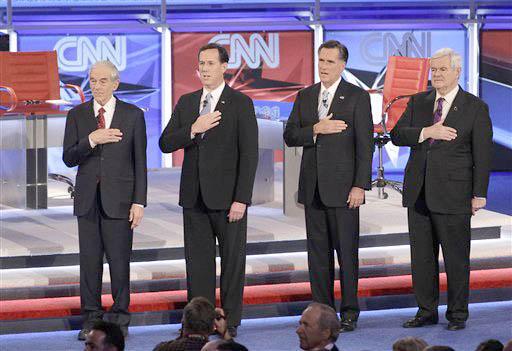 Ron Paul, Rick Santorum, Mitt Romney, Newt Gingrich