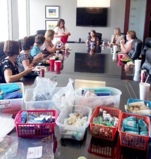 Jaburg Wilk assembles kits for parents of sick children