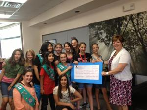 Troop 1685 performs community service projects