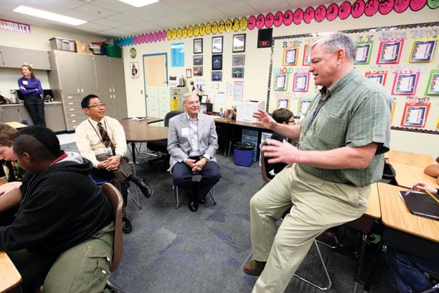 Mitchell recognizes Navy vet turned Colina teacher