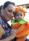 Sandra Correa with her grandson Sammy.