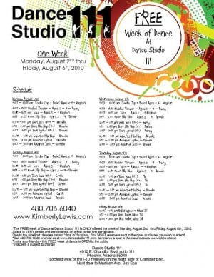 Free dance lessons Aug. 2 - 6