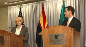 Jan Brewer and Guillermo Padres