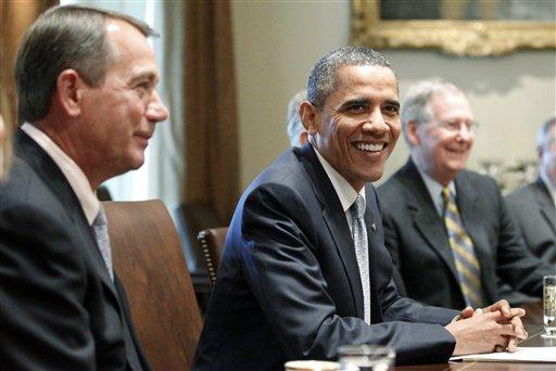 Barack Obama, John Boehner, Mitch McConnell