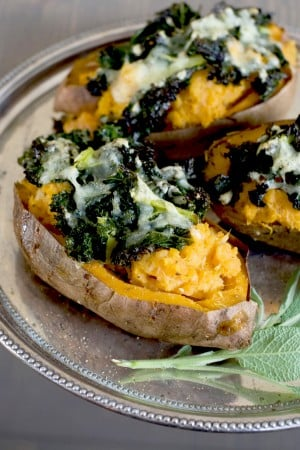 Loaded sweet potatoes