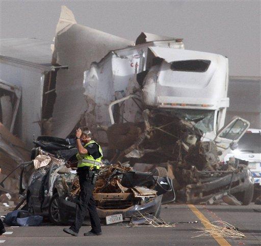 APTOPIX Arizona Dust Storm Crash