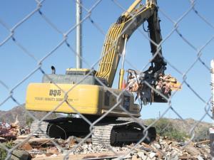 Strip mall demolition