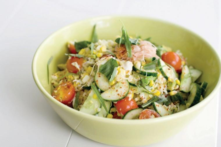 Salad of corn and jumbo lump crabmeat