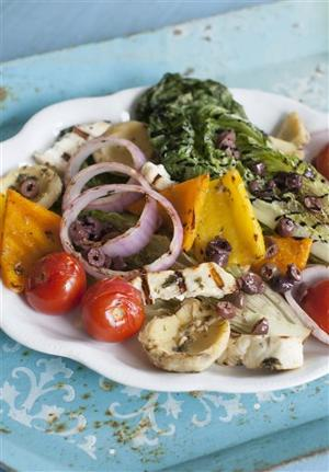Food Grilled Greek Salad