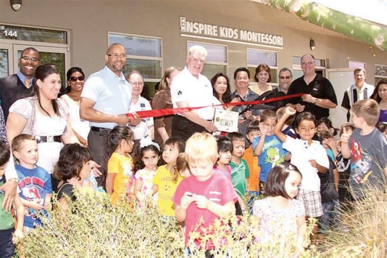 Inspire Kids Montessori ribbon cutting