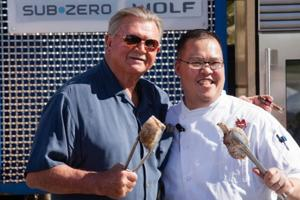 NFL legend Mike Ditka and Ditka's chef Andy Moy