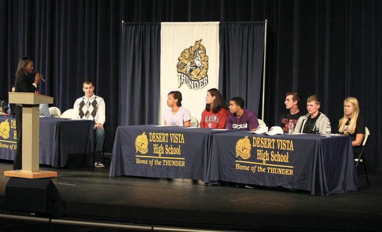 Desert Vista signings