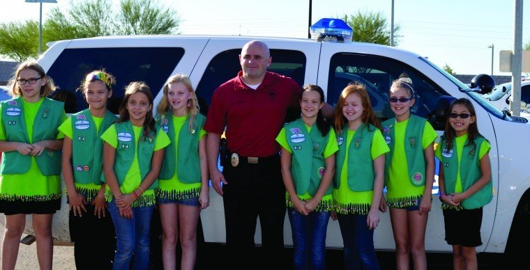 GS Troop 64 donates 200 stuffed animals to Ahwatukee P.D.