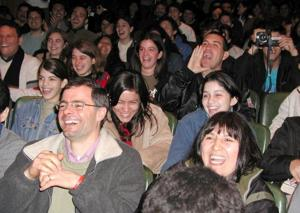 laughing crowd
