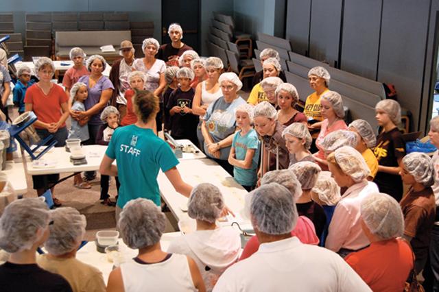 Volunteering to feed children