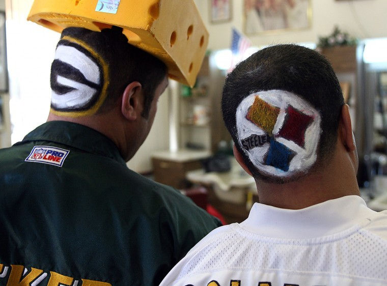 Super Bowl fan show their pride