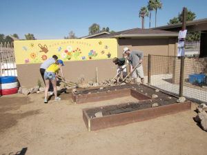 Local Boy Scouts work on Children's Garden in Ahwatukee