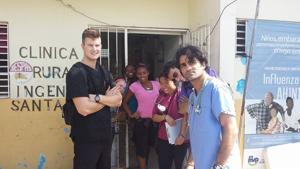 <p>From left: Ahwatukee resident Liam Bosch visits the Dominican Republican for a medical school trip with a medical school group from the University of Arizona College of Medicine.</p>