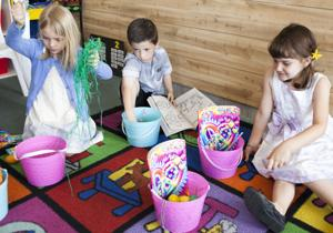 Easter Baskets at Magic Journey Learning Center