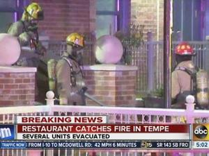 Apartment fire in Tempe