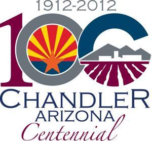 Chandler centennial logo