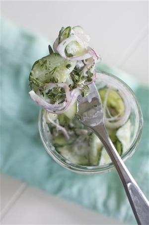 Food Deadline Cucumber Salad