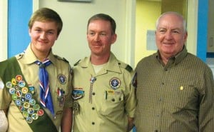 Three generations of Eagle Scouts