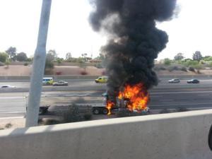 Semi-truck crash on US 60