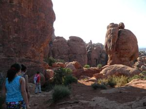 Fiery Furnace trail, Arches National Park, Utah