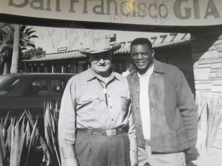 Ted Sliger and Willie Mays