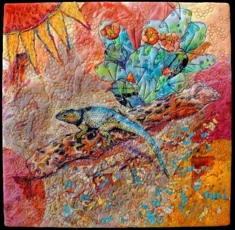 """S.W. Spiny Lizard"" quilt"