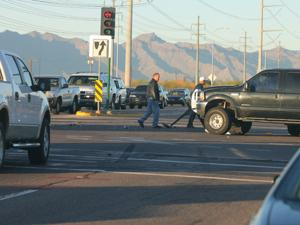 Crash on Pecos Road slows traffic