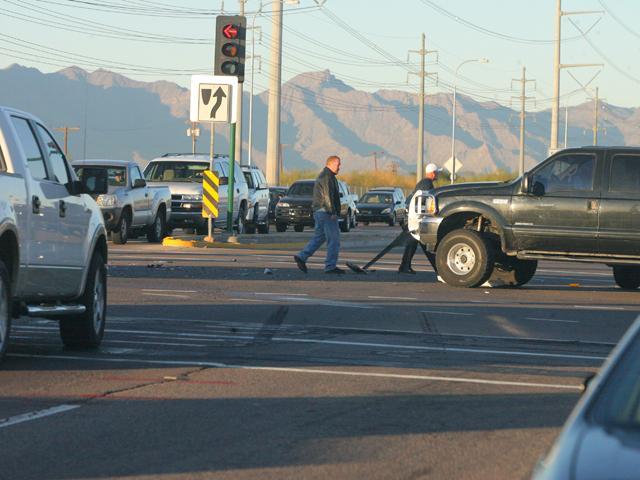 Crash on Pecos Road slows traffic