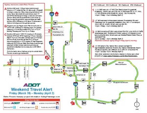 Weekend Freeway Map March 29, 2012