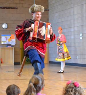 Russian dancers at Keystone Montessori