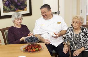 Cooking at Mountain Park Senior Living
