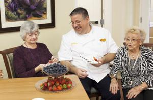 Cooking at Mountain Park Senior Living