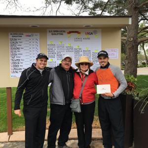 <p>Matt Lingris said his two-year run of attempting to make it in professional golf wouldn't be possible without his support group, mainly his parents, Dean and Suzanne, and brother Brian.</p>