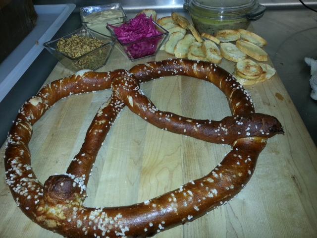 giant pretzel