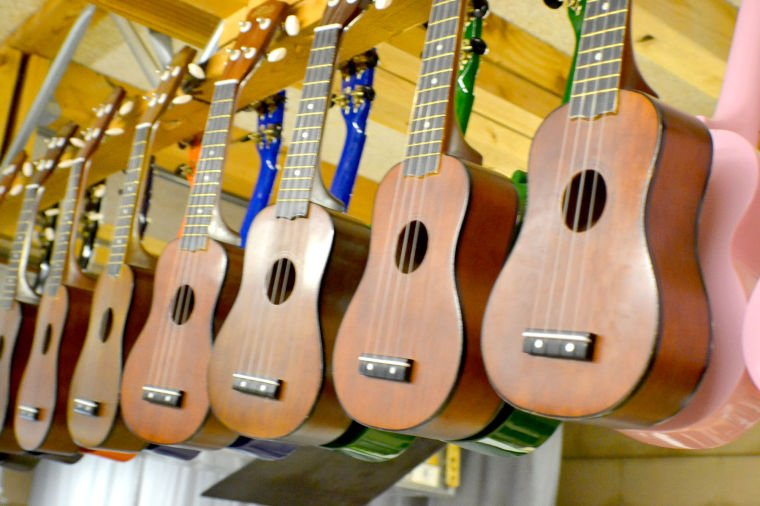 Keystone Montessori receives donation of ukuleles