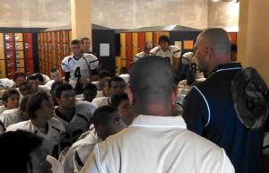 DV pregame talk before Mission Hills