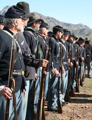Civil War battle re-enactment at Picacho Peak State Park