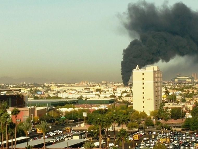 Two-alarm fire near Downtown Phoenix