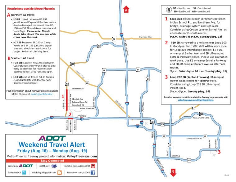 Weekend Freeway Travel Advisory (Aug. 16-19)