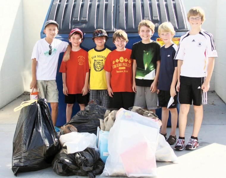 Cub Scout community service project