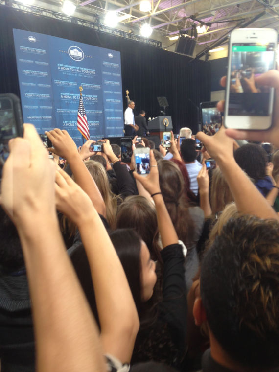 Obama visits Desert Vista