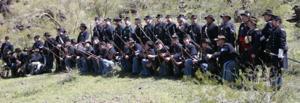 Civil War battle reenactment at Picacho Peak State Park